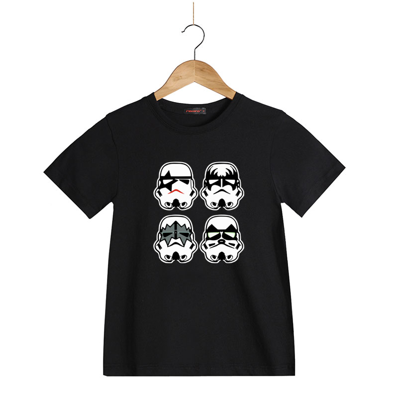 summer cotton boys t shirts kids clothing tee star wars x kiss band printed t shirt child 39 s. Black Bedroom Furniture Sets. Home Design Ideas