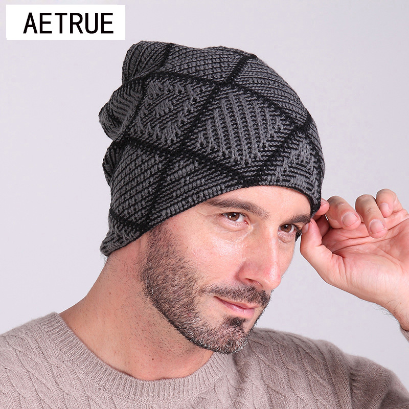 Beanies Knitted Hat Men's Winter Hats For Men Women Caps Skullies Winter Beaine Bonnet Brand Mask Casual Cap Warm Baggy Hat 2017 aetrue beanies knitted hat men winter hats for men women fashion skullies beaines bonnet brand mask casual soft knit caps hat