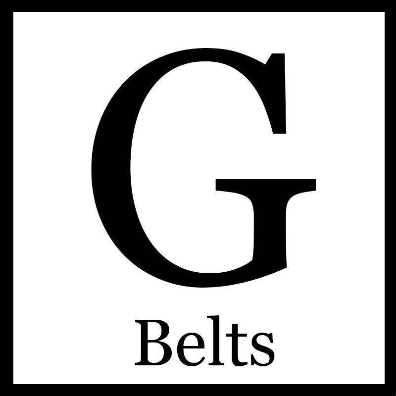Black Double G Buckle Belts For VIPSBlack Double G Buckle Belts For VIPS