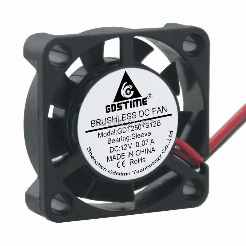 GDSTIME Small 25x25x7mm 5V Mini 25mm Brushless Cooling Cooler Fan DuPont 2pin