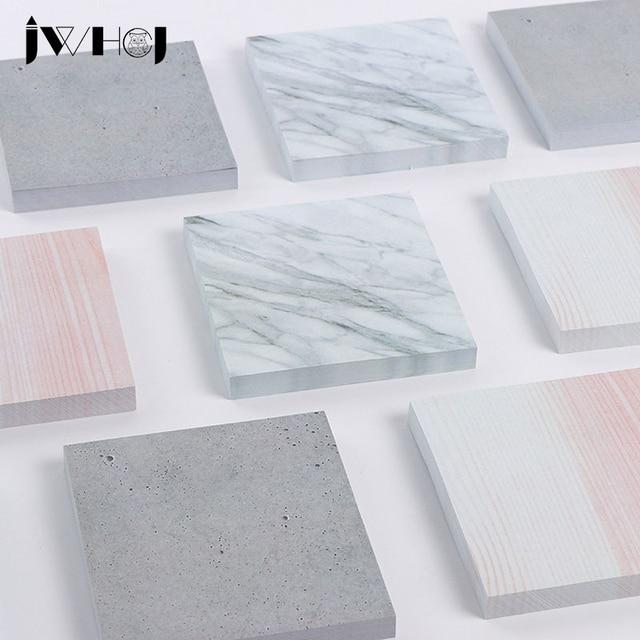 1 sztuk JWHCJ Kreatywny marmurkowe tekstury Post-it karteczki memo pad papieru notatnik papiernicze artykuły szkolne dzieci prezenty