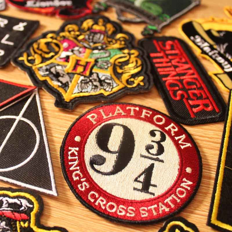 DIY Harry Patch Hook Loop Badge Embroidered Patches For Clothing Iron On Patches On Clothes Jeans Embroidery Patch Applique