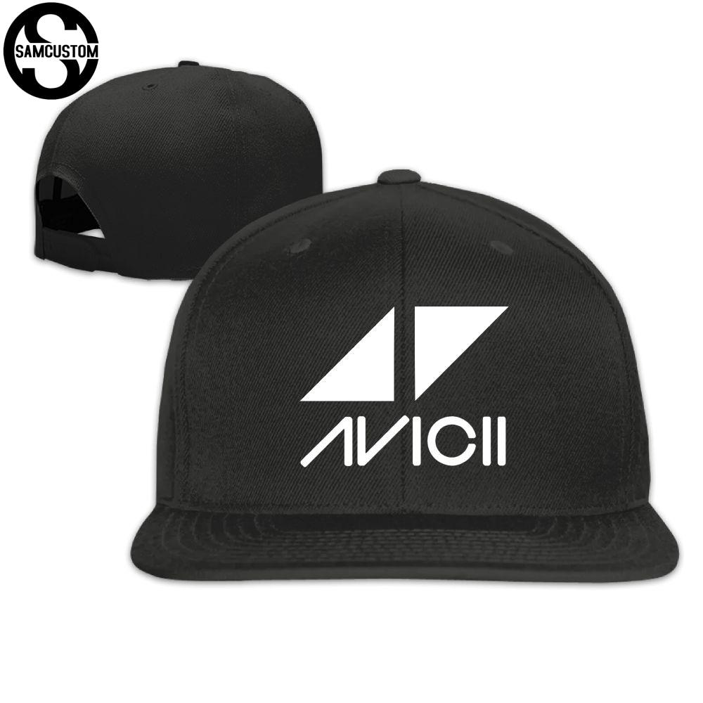 SAMCUSTOM cap baseball cap Side 3D printing Avicii Casual cap gorras hip  hop snapback hats wash cap