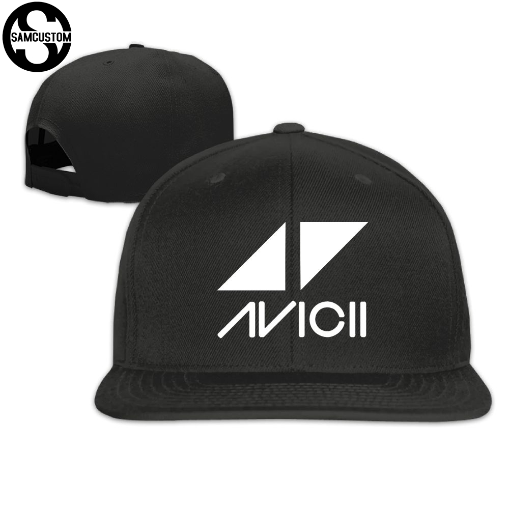 SAMCUSTOM   cap     baseball     cap   Side 3D printing Avicii Casual   cap   gorras hip hop snapback hats wash   cap   unisex