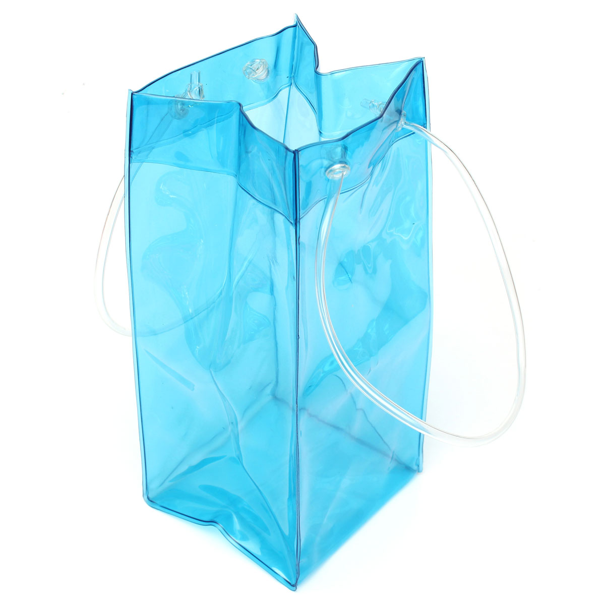 PVC Wine Beer Champagne Drink Cooler Chiller Drink Pouch Wine Bottle Ice Bag Bucket For Parties Random Color Practical Outdoor