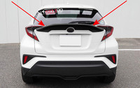 Accessories 1 Black Plastic Car Wing Spoiler Rear Roof Trunk Spoiler Wing Decorative Trim For Toyota