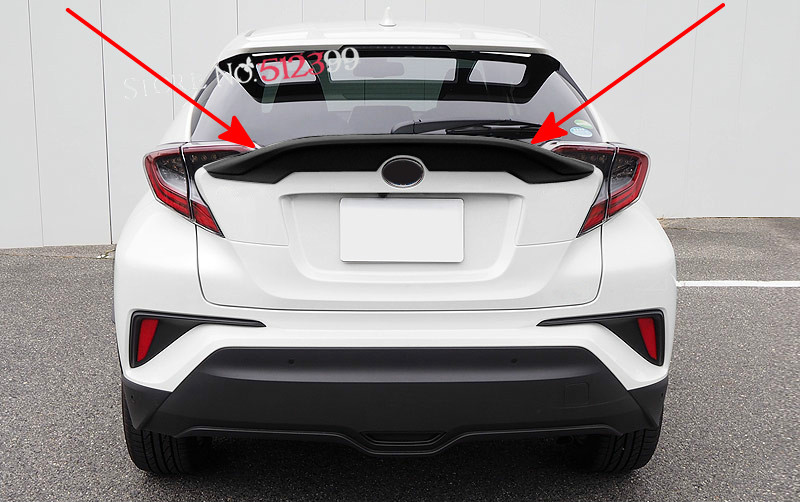 Car Wing Spoiler Rear Roof Trunk Spoiler Wing Decorative Trim For Toyota C-HR CHR 2016 2017 Black Plastic Accessories rear spoiler rear trunk wing cover trim for toyota c hr chr 2017 2018 abs chrome carbon fibre stickers car styling accessories