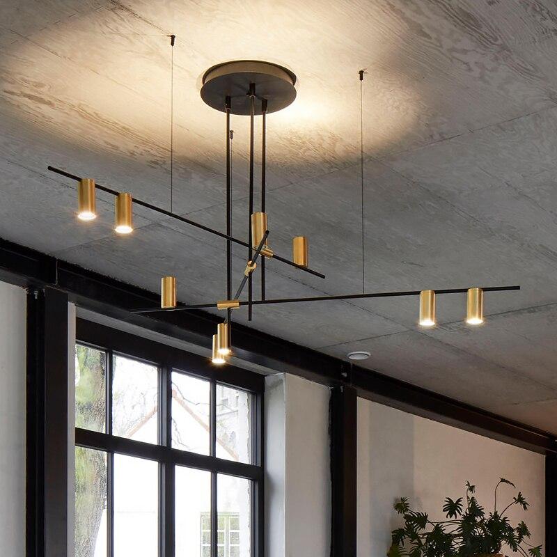 Lustres scandinaves Post-plafond moderne à LEDs éclairage créatif Designer lampe suspendue salle à manger salon Lustre café