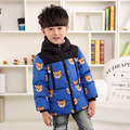 2016  Cartoon Bear Boys Parka Childen Winter Jackets for Girls Boys Down Jackets Coats Warm Kids Baby Thick Cotton Down Jacket