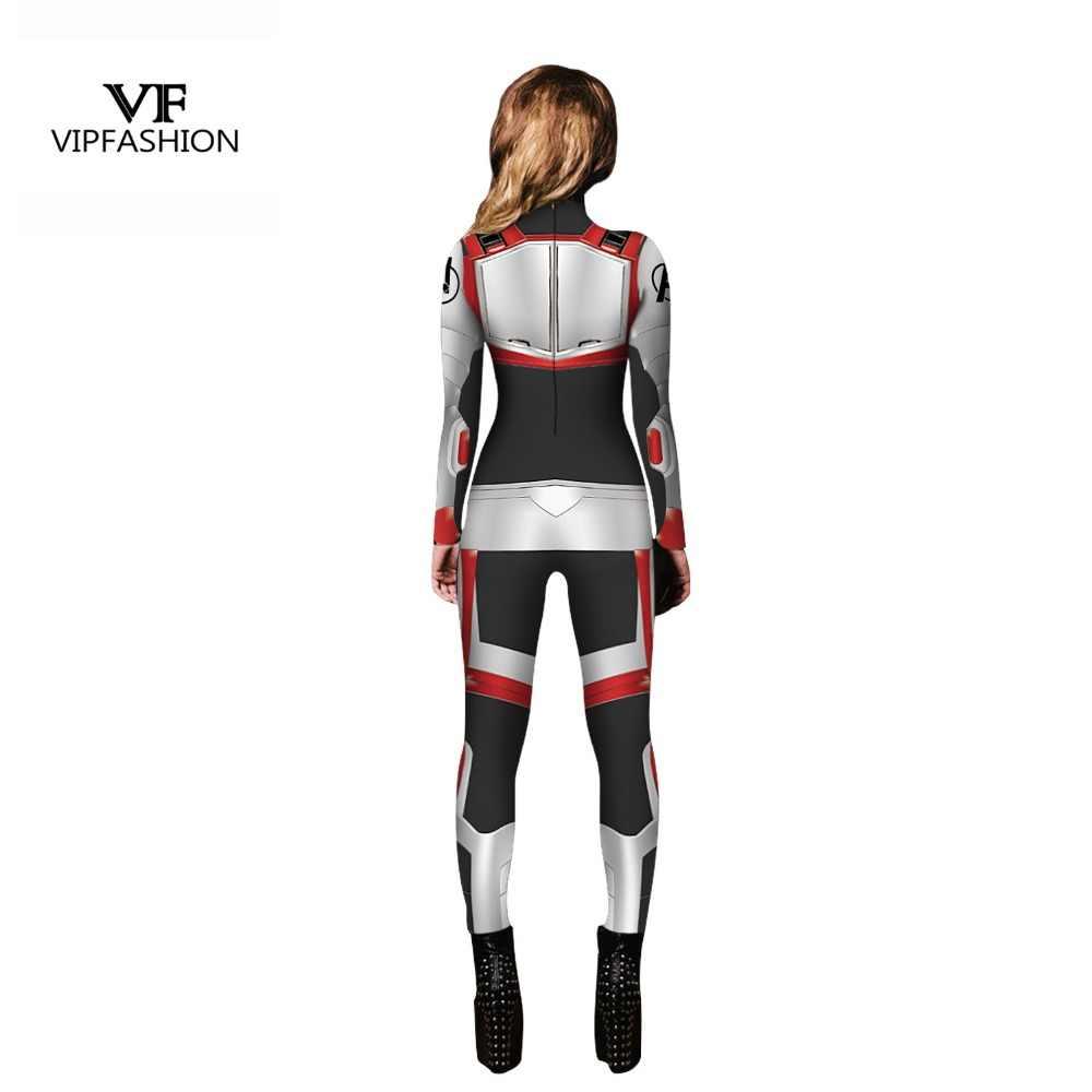 Moda VIP alta calidad mujeres chicas los Vengadores 4 Endgame Quantum Realm superhéroe Marvel Cosplay disfraz superhéroe monos