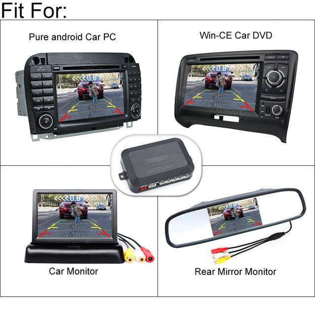 1c192647d26 Online Shop Dual-Core CPU Car Video Parking Sensor Car Parking Reverse  Backup Radar System with 4 Sensors