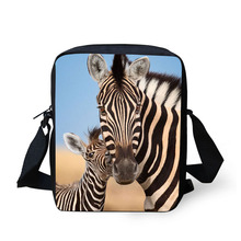 Купить с кэшбэком Cross Body Bag Zebra Printing Messenger Bags for Men Women Hot Brand Small Cross Body Bags for Ladies Mens Travel Bags