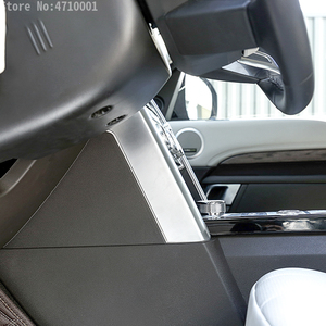 Image 5 - Car Accessories Center Console Side Decoration Strips Trim 2pcs for Land Rover Discovery 5 LR5 2017