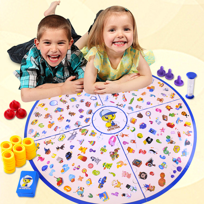 [Funny] Detectives Looking Chart Board Game Puzzle Brain Reaction Training Matching Games for kids and parents family game Toy