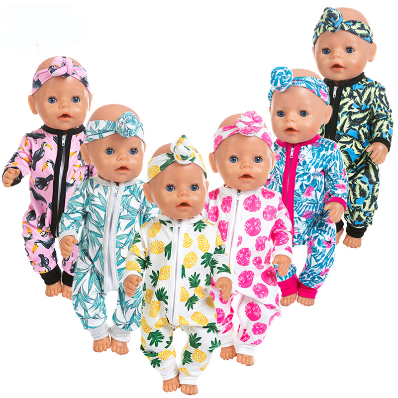 New Jumpsuits Doll Clothes Fit For 43cm Baby Doll Clothes Reborn Doll Accessories