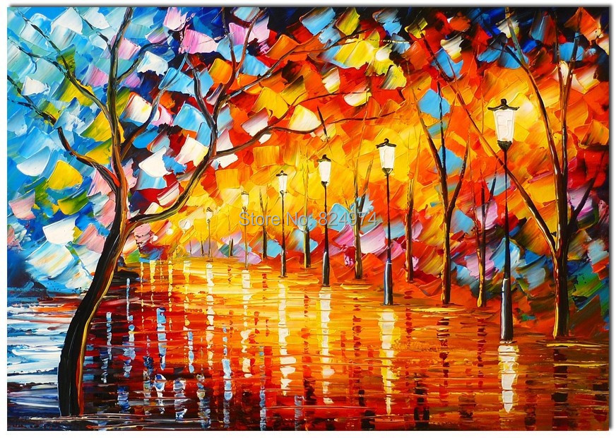 Beautiful Palette Knife Oil Painting High Quality Abstract ...
