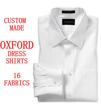 Custom Made Oxford Mens Dress Shirts French Cuff,Bespoke Pinstripe Long Sleeve 100% Cotton Slim Fit Oxford Men Dress Shirt Men - DISCOUNT ITEM  0% OFF All Category