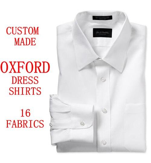 Erkek Kıyafeti'ten Frak Gömlekler'de Özel Yapılmış Oxford Erkek Elbise Gömlek Fransız Manşet, ismarlama Pinstripe Uzun Kollu % 100% Pamuk Slim Fit Oxford Erkek Elbise Gömlek Erkekler'da  Grup 1