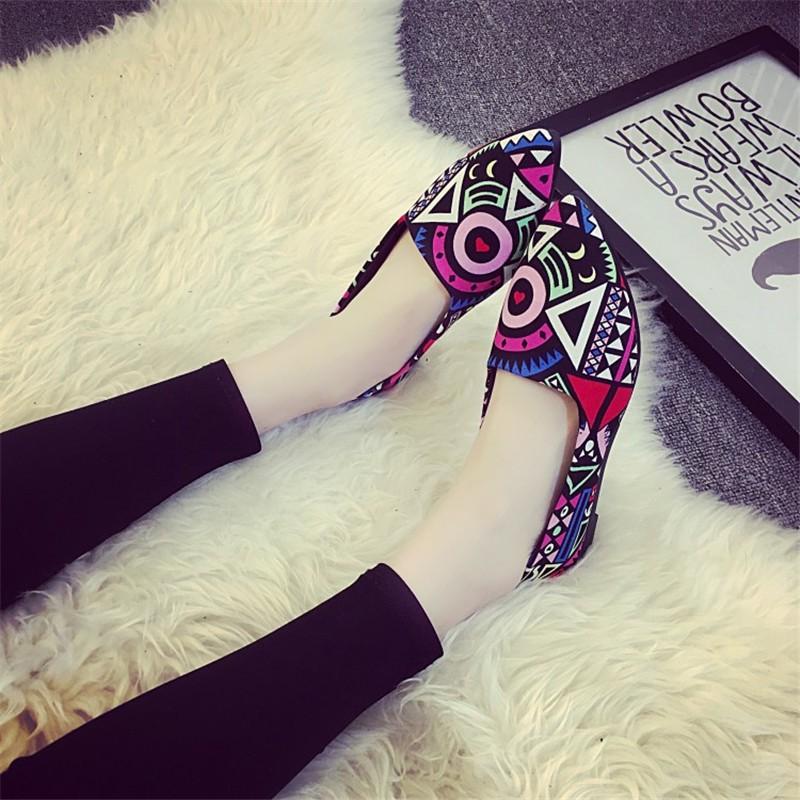 2016 Summer Fashion Hot Style Blue Patchwork shoe High Quality Casual Lazy shoe Women Flat shoe HSC14 (5)