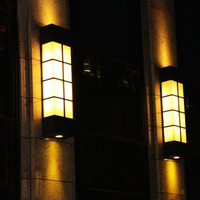 Континентальный свет лужайки сада открытый пейзаж водонепроницаемый Вилла высокий шест лампы Открытый IP65 Настенный акриловые Огни Балкон