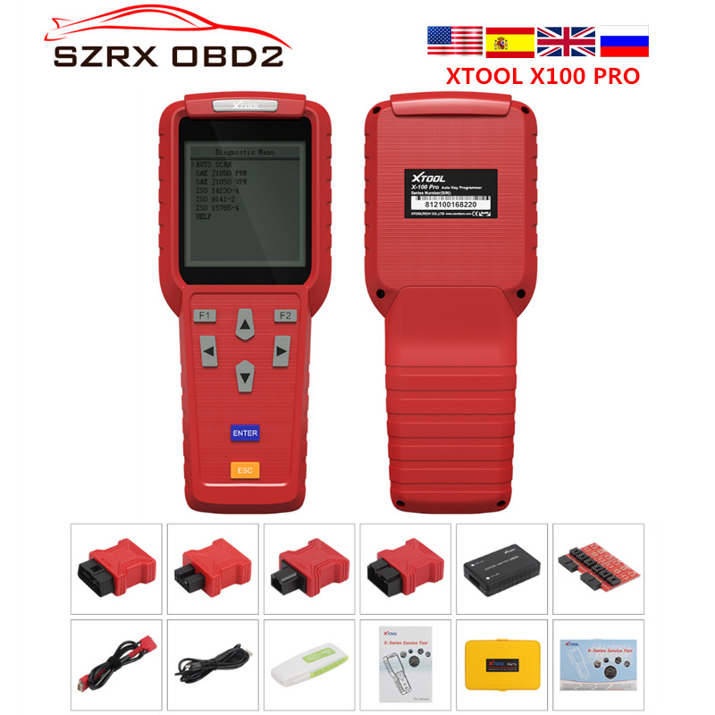 Original Diagnostic tool XTOOL X100 Pro Auto Key Programmer With EEPROM Adapters support Odometer Mileage adjustment