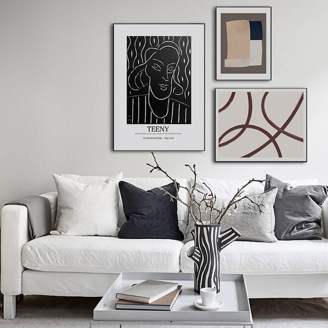 Abstract Geometric Europe Figure Canvas Printings Paintings 1