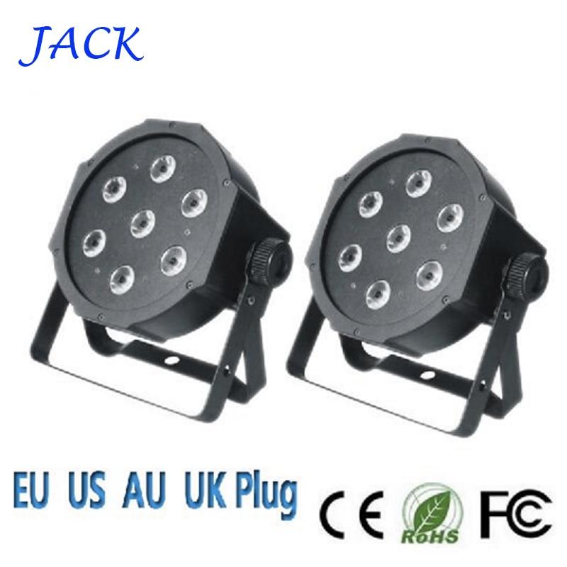 ФОТО 7x12W led stage light voice-control AC110-240V LED Flat SlimPar Quad Light 4in1 LED DJ Wash Light Stage Uplighting No Noise