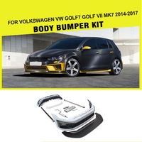 PU Styling Car Body Kits Bumper for Volkswagen VW Golf 7 Golf VII MK7 GTI R 2014 2017