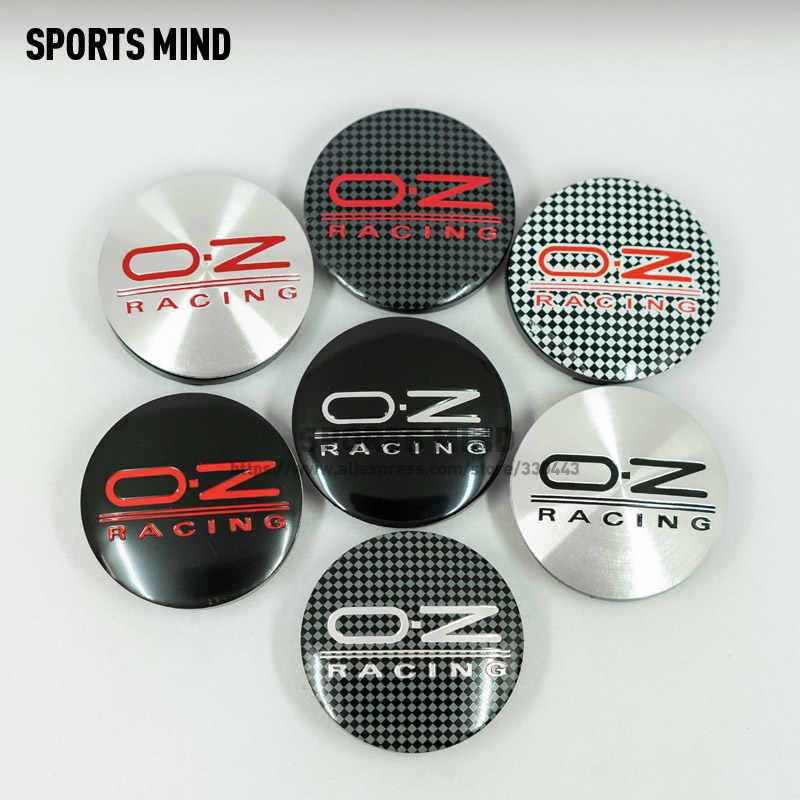 4PCS/lot 7 COLORS 56MM OZ Racing Car Wheel Center Hub Caps Badge Emblem Sticker Decal Wheel Dust-proof covers Badge logo