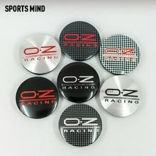4PCS/lot 7 COLORS 56MM OZ Racing Car Wheel Center Hub Caps Badge Emblem Sticker Decal Wheel Dust proof covers Badge logo