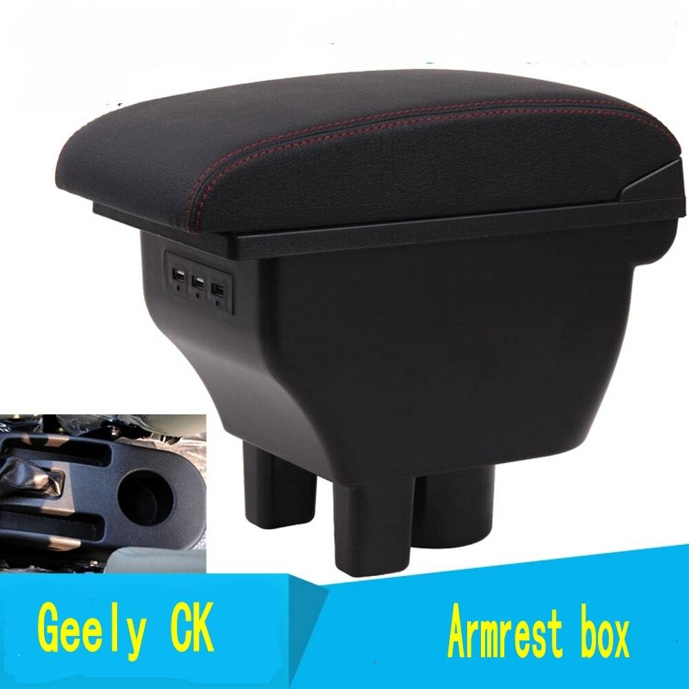Pour le nouveau Geely CK accoudoir boîte de stockage de contenu de magasin central King kong CK2 CK3 accoudoir boîte avec interface USB