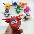 8 estilos Super Asas Mini Aviões Avião Deformação Robô Transformação Brinquedos Figuras de Ação toy figuras de ação Super Asas
