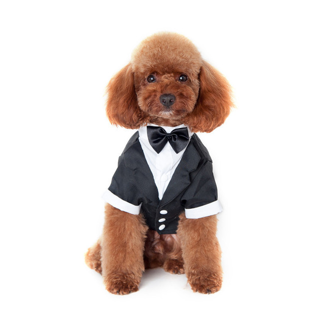 Dog Clothes Wedding Suit Dress for Dogs Cats Male Dog SuitsDog ...