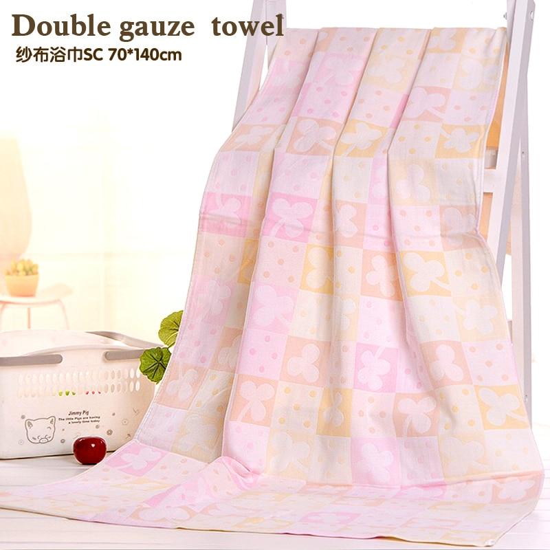 Двойное марлевое банное полотенце Тонкое легкое сухое полотенце Хлопок с каплями удобного рисунка оставляет хлопковое полотенце