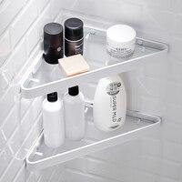 Nordic minimalist bathroom shelf White corner shelf Wall mounted storage rack 1/2/3 layer 2 colour Household Accessories