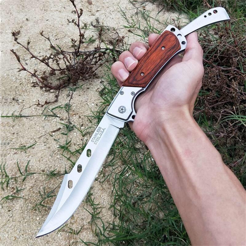 Cuchillo táctico del ejército suizo de bolsillo de alta calidad cuchillos tácticos al aire libre Camping combate plegable cuchilla de supervivencia de la defensa Tanto cuchillos de caza