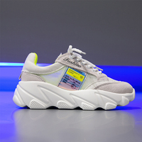 Casual White Sneakers Platform Summer Outside Leather Sneakers Women Flats Soft Leisure Women Shoes Chunky Sneakers Yellow 2019