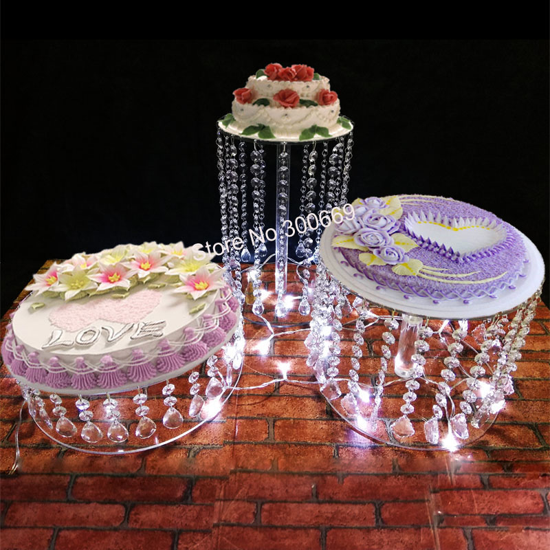 New Wedding Cake Stand Crystal Cake Holder Round Crystal Cake Stand Clear Acrylic Pendant Cake Pop Tower Table Centrepieces Buy At The Price Of 126 00 In Aliexpress Com Imall Com