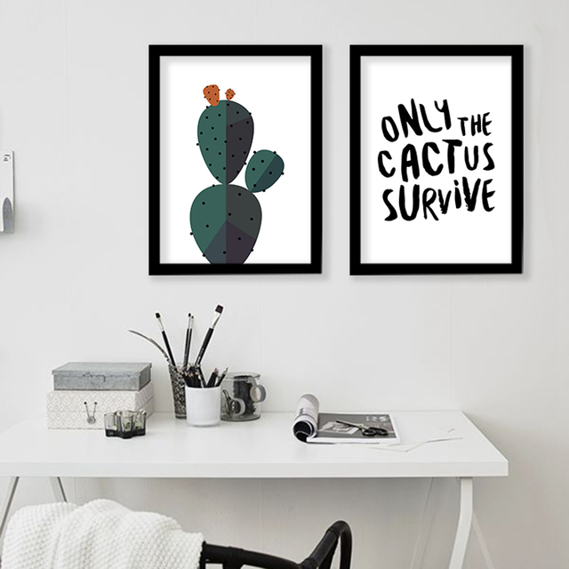 High Quality Desert Cactus Wall Art Print Decorative Wall Painting , Cactus Decoration  Canvas Art Print Modern
