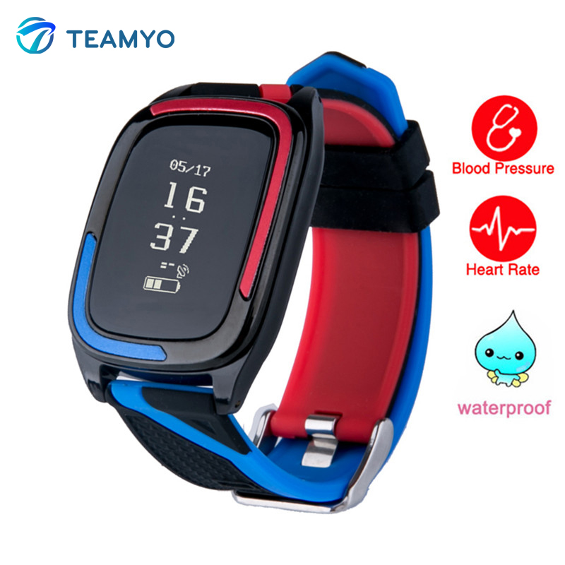 Teamyo Smart wristband watches blood pressure fitness tracker Heart rate monitor Smart band IP68 Waterproof For iOS Android стоимость