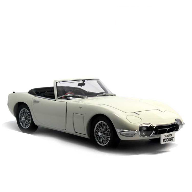 White 1/18 Toyota 2000GT Roadster MF10 AutoArt AA Diecast Model Car Aluminum Die casting Products Craft Collection Brinquedos 1 18 otto renault espace ph 1 2000 1 car model reynolds