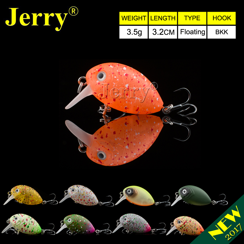 Jerry 1pc 32mm ultralight fishing lures micro wobble lures trout fishing lures crankbait hard bait freshwater bait BKK hook