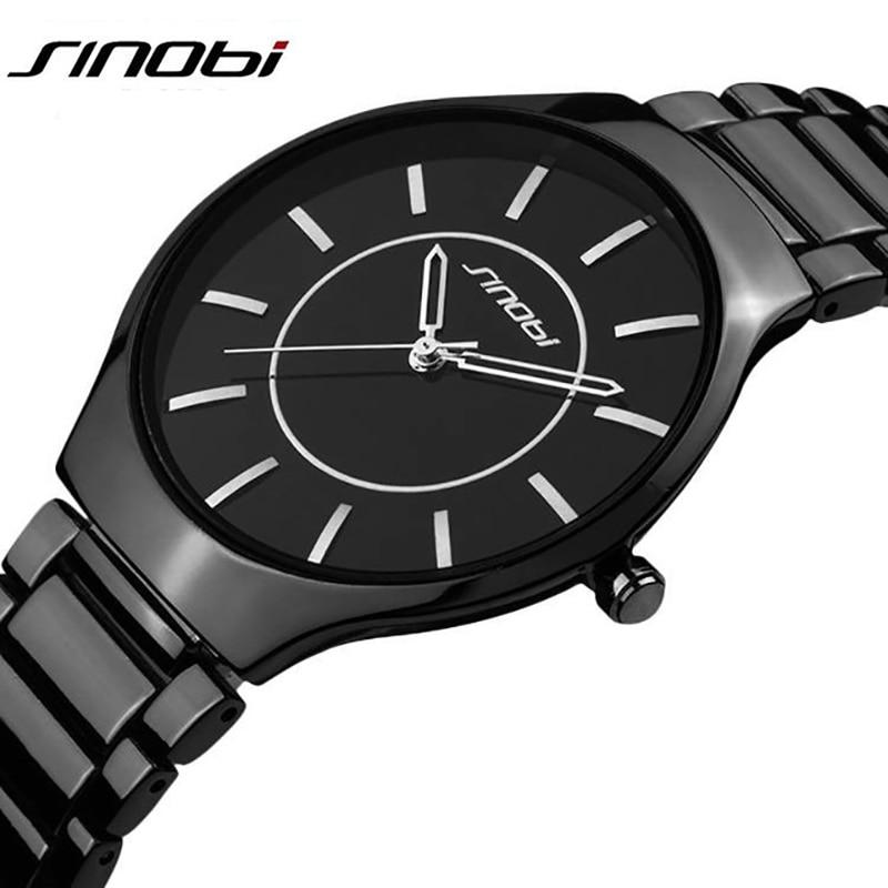 Reloj de pulsera de hombre de marca superior de lujo para hombre, vestido militar, Relojes de Acero de cuarzo de Japón, reloj Casual, reloj Masculino SINOBI