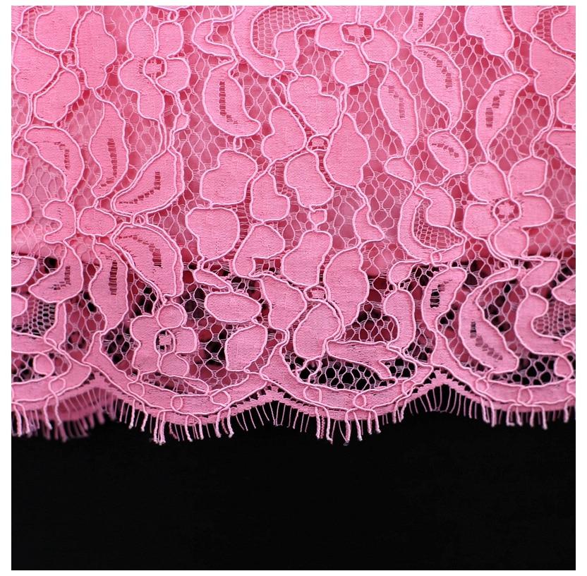 Été marque romantique rose enfants jupe enfants maman filles soirée slim bébé dentelle robe mère et fille robes assorties - 5