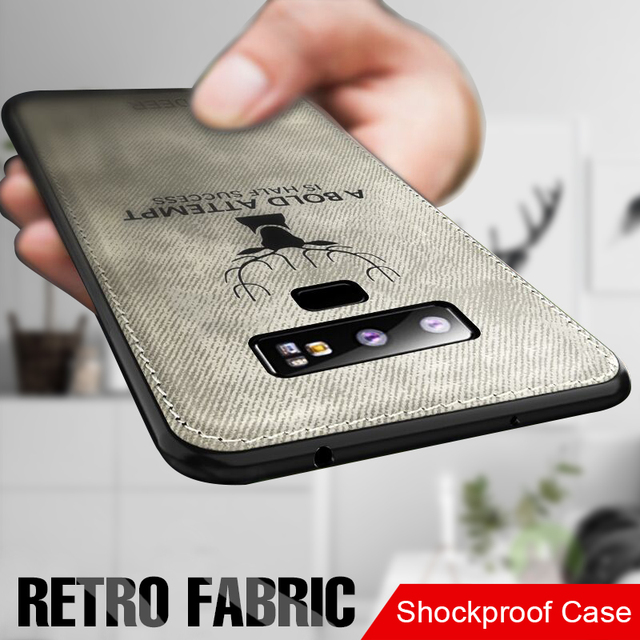Soft Cloth Back Case Cover For Samsung Galaxy S7 Edge, S8, S9, Note 8, Note 9, S8 Plus and S9 Plus