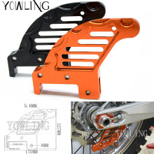 Motorcycle CNC Aluminum Orange Autobike Rear Brake Disc Guard Potector For KTM 450 EXC 2009-2014 XCF 2008-2014 2013 2012