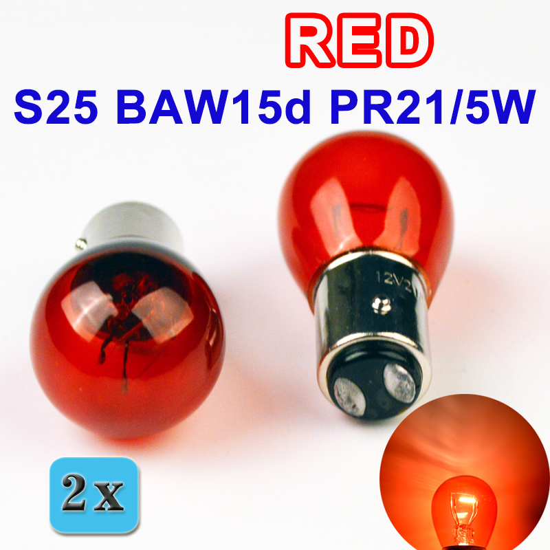 Flytop 2 PIECES PR21/5W S25 12V21/5W BAW15d Red Glass Offset Car Brake Lights автофургон baw tonik с пробегом в москве