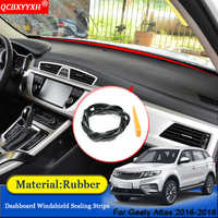 Car-styling Anti-Noise Soundproof Dustproof Car Dashboard Windshield Sealing Strips Auto Accessories For Geely Atlas 2016-2018