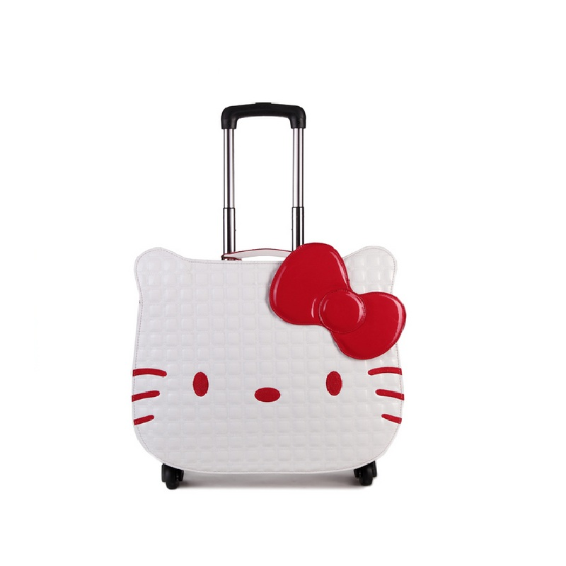 18 inch hello kitty luggage suitcase kids women travel cartoon leather luggage rolling spinner wheels gift DHL/EMS free shipping barbour plain lambswool pink page 8
