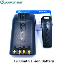 WOUXUN High Capacity Spare 7.4V 3200mAh Li-ion Battery With Belt Clip for Wouxun Walkie Talkie KG-UVD1P KG-UV6D KG-699 Radio